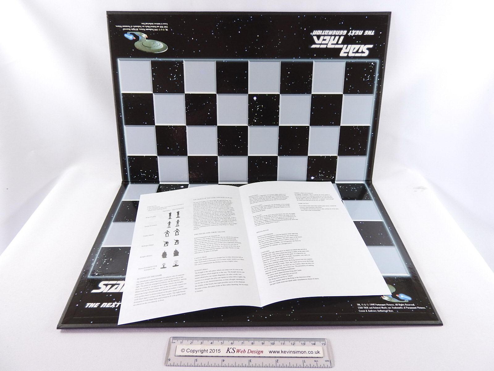 Star Trek The Next Generation Tng 3d Chess Set 1999 Ebay