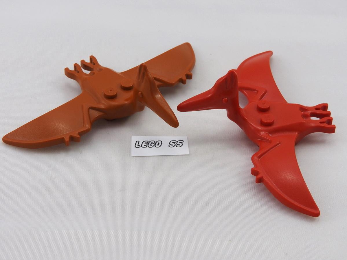 Lego Pterodactyl Flying Dinosaur Figures Jurassic Park X2 Red